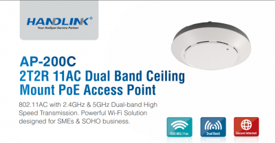 AP-200C                                2T2R 11AC DUAL BAND CEILING                                MOUNT POE ACCESS POINT