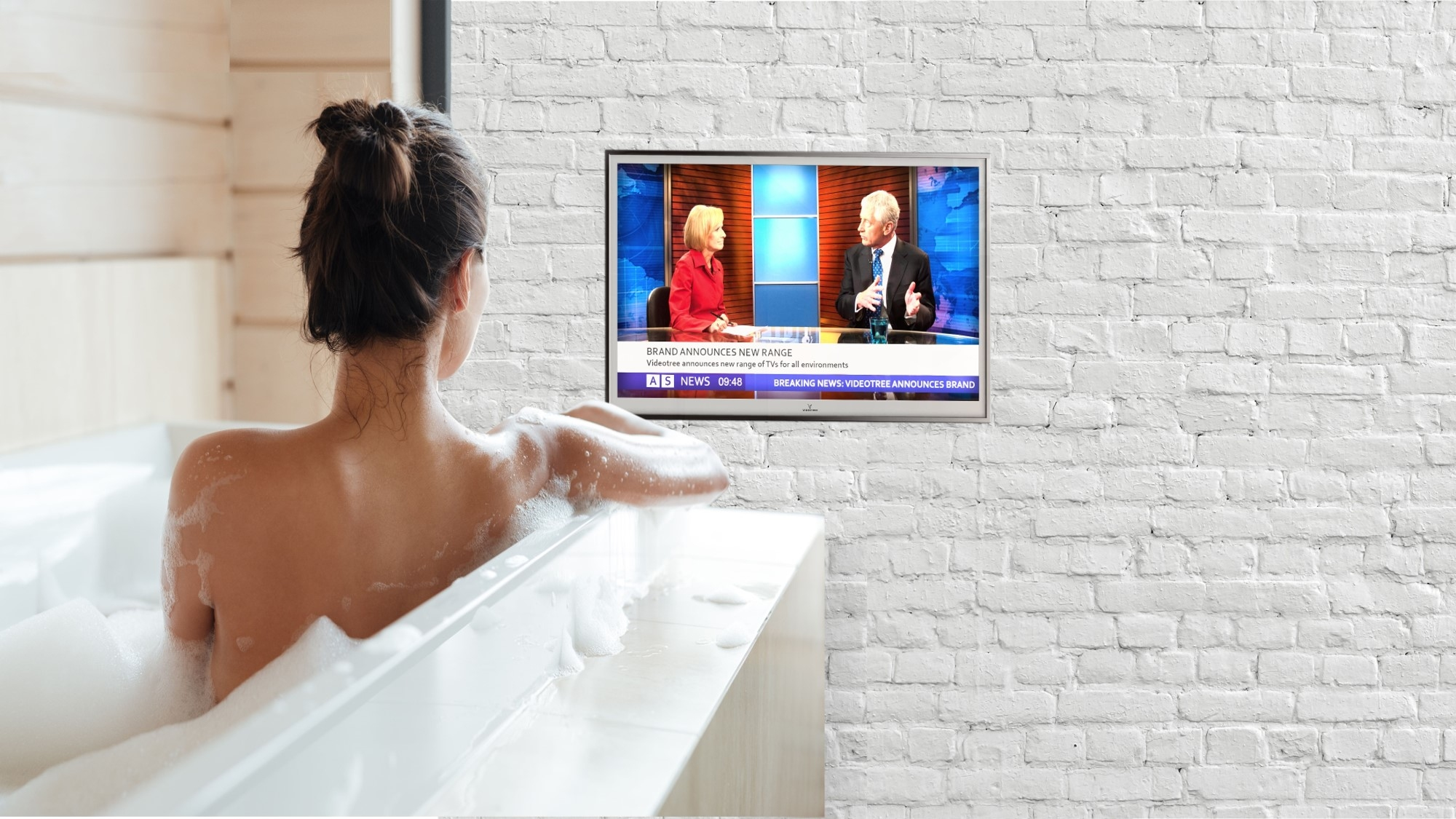 Lifestyle   Bathroom  TV Videotree SNT